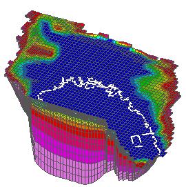 大阪平野の3次元浸透流解析帯水層モデル